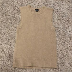 Theory 100% Cashmere Light Brown /Tan Sweater Vest